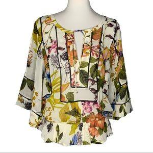 Daniel Rainn NWOT Floral Kimono Sleeve Blouse M